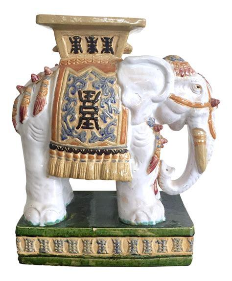 Vintage Elephant Garden Stool by Vintage Colorful Ceramic Elephant Garden Stool Chairish