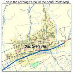 santa paula california map aerial photography map of santa paula ca california