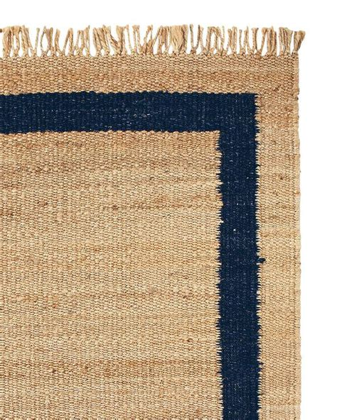 jute rugs with borders jute navy border rug