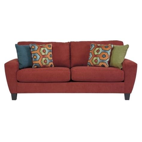 queen size sofa sleeper ashley sagen fabric queen size sleeper sofa in sienna