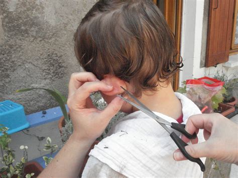 hair ears cut hair how to cut a little boy s hair almost frugal