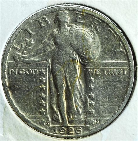 1926 s standing liberty silver quarter dollar ships for