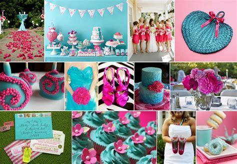 Theme: Pink & Turquoise   Pretty Weddings