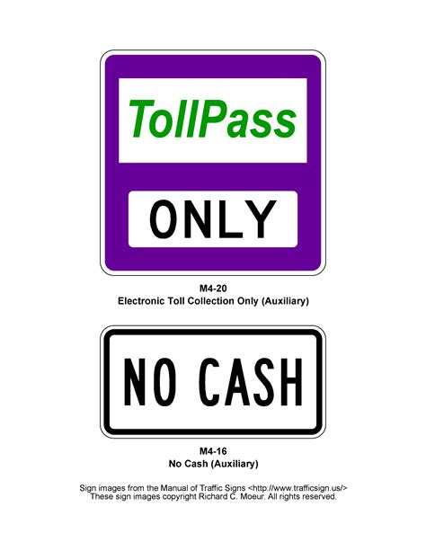 manual  traffic signs  series signs