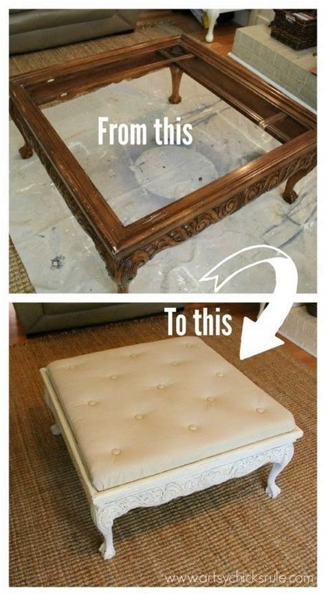 Coffee Table Turned Ottoman Coffee Table Turned Ottoman Before And After Re Use It Be Cool Ottomans And Diy