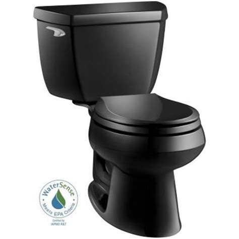 black toilet kohler wellworth classic 2 piece 1 28 gpf round front
