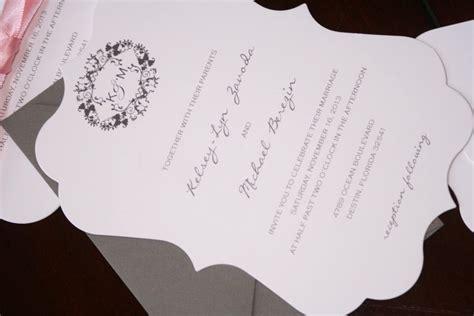 Die Cut Wedding Invitations