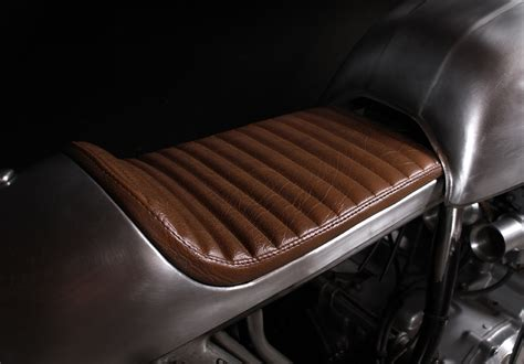 Motorcycle Seat Leather Upholstery by Honda Cafe Racer By The Tarantulas Silodrome