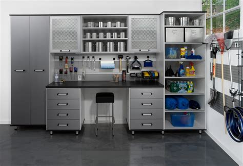 garage storage design aluminum melamine garage contemporary garage and shed new york by transform the of