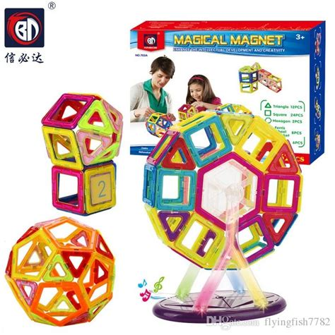 Puzzle Magnet F 2017 magnetic puzzle rainbow colors magnet block toys for vehicle set creater carnival set