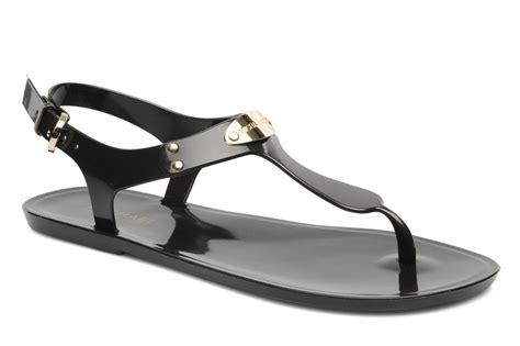 michael kors plate jelly sandals bronze michael michael kors mk plate jelly sandals in bronze and