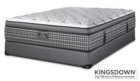 queen bed mattress set kingsdown aurora queen mattress boxspring set leon s