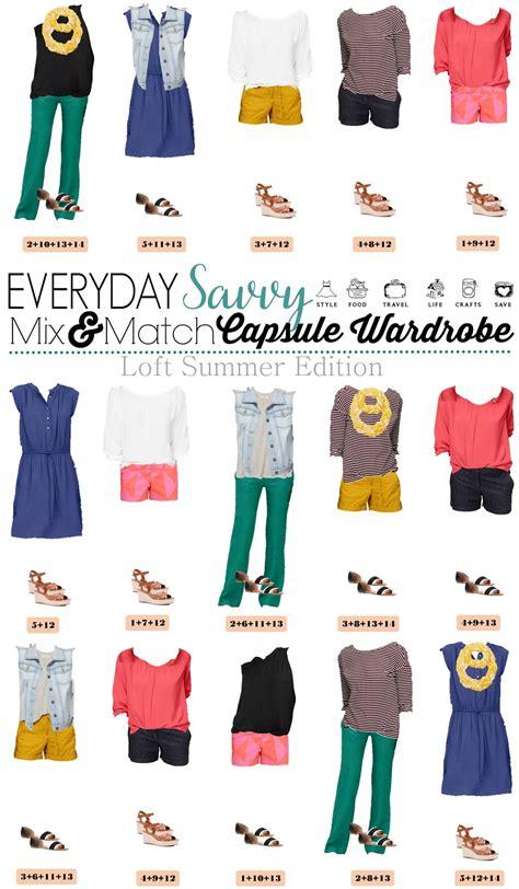 Capsule Summer Wardrobe by Loft Summer Capsule Wardrobe With Printed Shorts