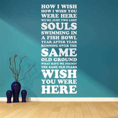 You Were Here pink floyd wish you were here song lyrics two lost souls