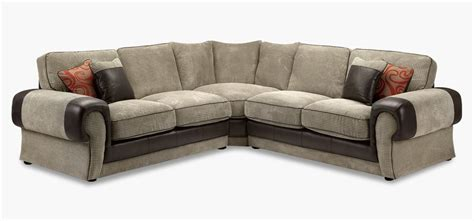 Fabric And Leather Corner Sofa Mocha Fabric Corner Sofa 2a1