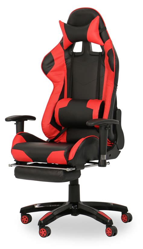 Clearance Cing Chairs by As Is Clearance Javan Racing Chair With Footrest Black