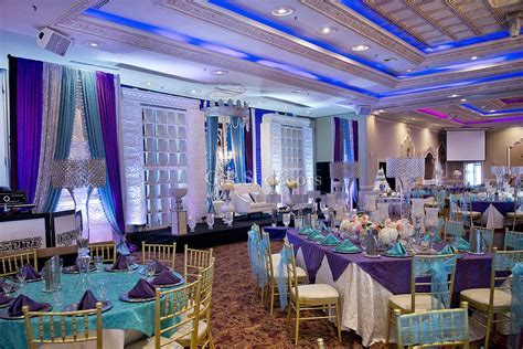 Purple & Turquoise Victorian Inspired Wedding Reception