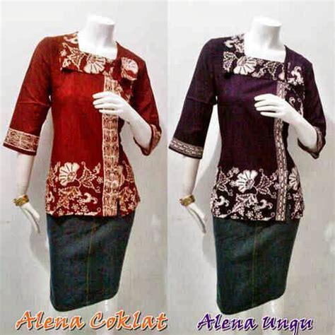 257 Baju Wanita I Dress blouse batik seri alena batik bagoes