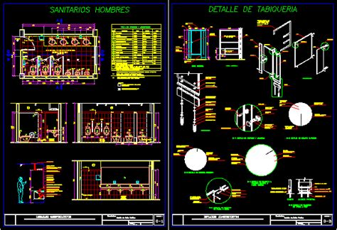 public bathrooms details dwg detail  autocad