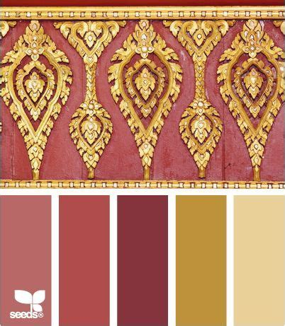 and gold color palette inspired by asian design