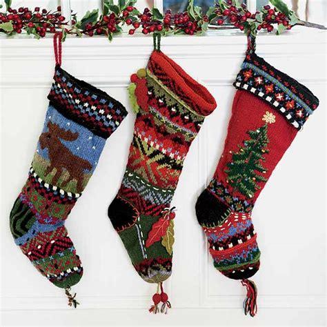 Knitting Pattern For Christmas Stocking Uk | hand knit christmas stockings hand knit folkloric