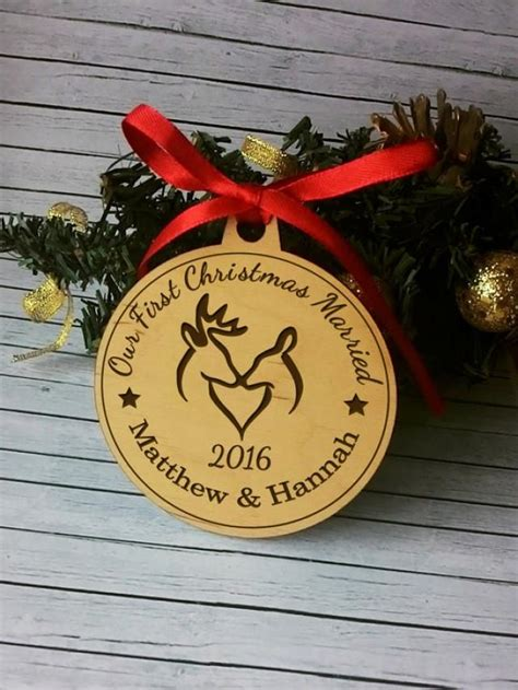 personalized our first christmas married couples 1st