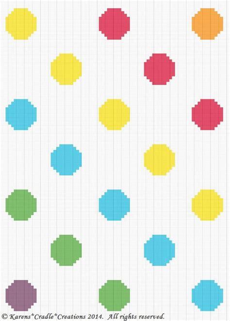 dot pattern graph crochet patterns polka dots primary colors scrap yarn