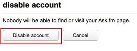 askfm delete account how to disable an ask fm account