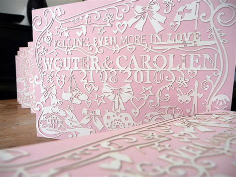 paper cutting wedding invitations sweep me up papercut wedding invitations