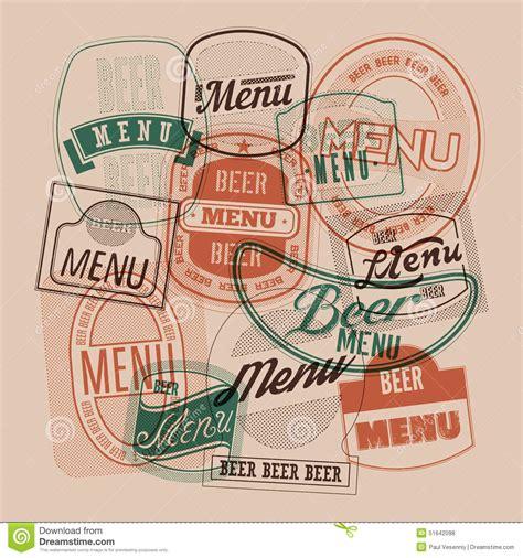 design beer label illustrator beer menu design with retro beer labels sts vector