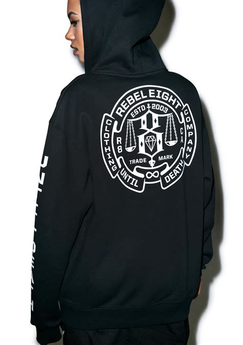 Hoodie Rebel8 rebel8 until zip up hoodie dolls kill