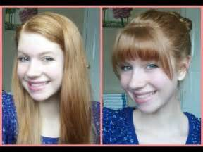 how to cut your own bangs fringe at home