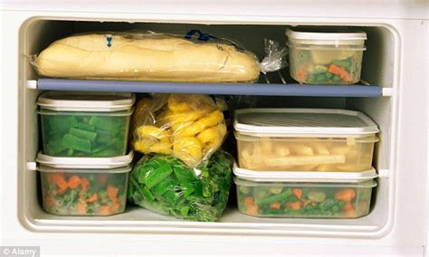 Freezer Frozen Food how food will keep in your freezer revealed daily mail