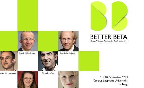design thinking kpmg better beta 2011 design thinking community trifft sich in