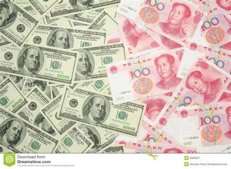 china u s dollar us dollar vs china yuan stock image image of paper