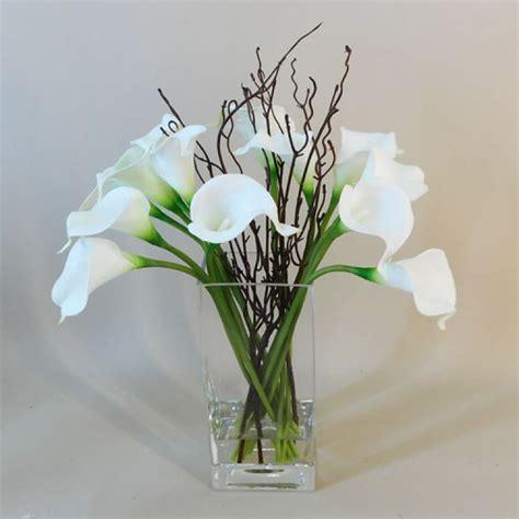 Artificial Flower Arrangements by Calla Artificial Flower Arrangement White