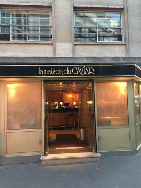 la maison du caviar restaurant 21 rue quentin bauchart 75008 adresse horaire