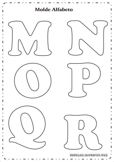 Educar X: Modelo de letras para cartaz