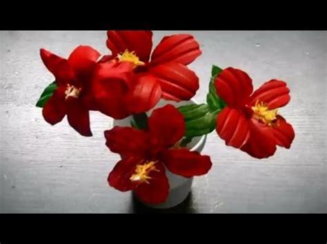 membuat bunga imitasi  botol plastik kerajinan