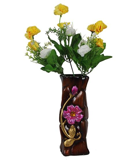 orchard ceramic flower vase with 15 yellow white