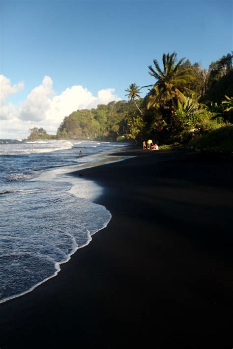 black sands beach black sand papenoo tahiti wanderlust pinterest