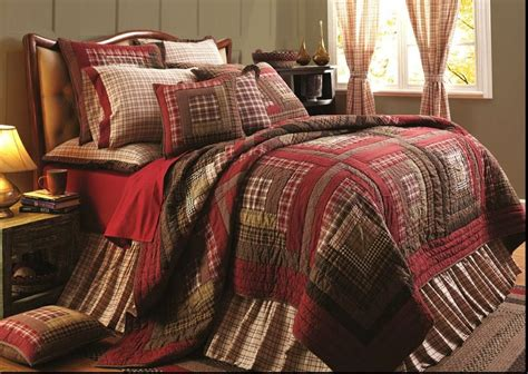 Brown Plaid Comforter by Southwestern King Quilt Set Plaid Brown Lodge Cabin