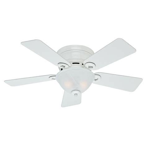 42 white ceiling fan with light 42 inch hunter fan conroy snow white ceiling fan with