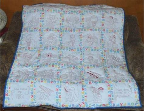 redwork baby quilt embroidery project  barbara geer