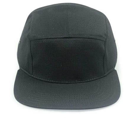 Topi 5 Panel Black blank 5 panel hat template www imgkid the image
