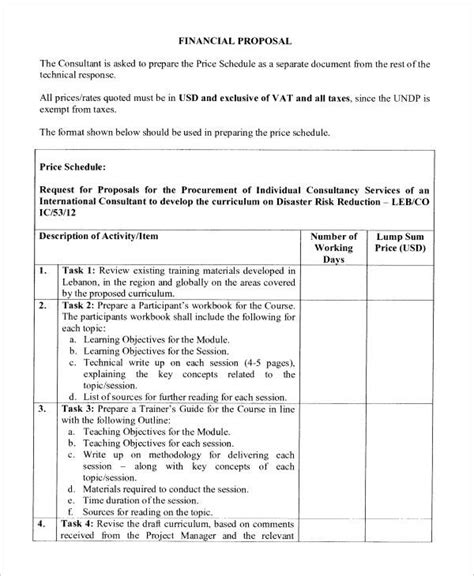 sle financial template 15 free documents in