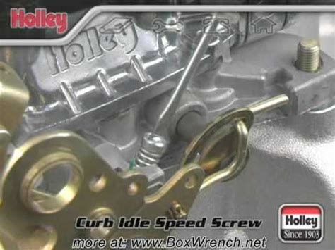 setting curb idle speed  carburetor video holley carb