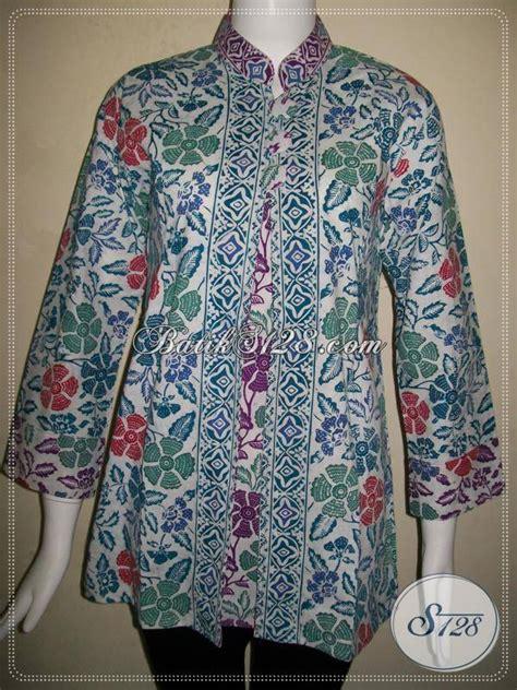 Baju Senam Wanita Berjilbab baju batik kerja wanita berjilbab blus batik kerja krah shanghai batik lengan tujuh perdelapan
