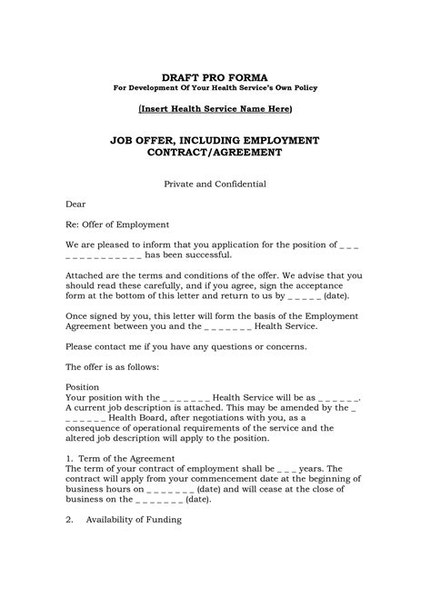 Offer Letter Employment Contract Best Photos Of Offer Agreement Employment Contract Letter Sle Employment Agreement