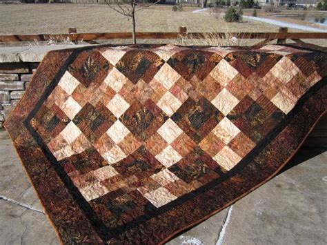 Brown Patchwork Quilt - batik quilt brown and patchwork quilt quilt